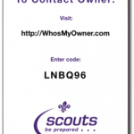 CR80 Luggage Tag 28th Scouts Cutout Small